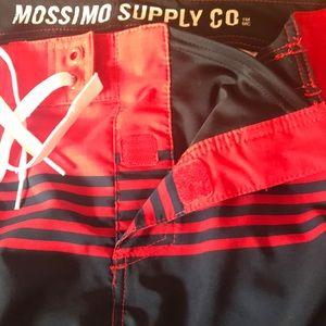 Mossimo Supply Co. Swim - Mossimo Men's Board Shorts Sz 34 wht/red/navy